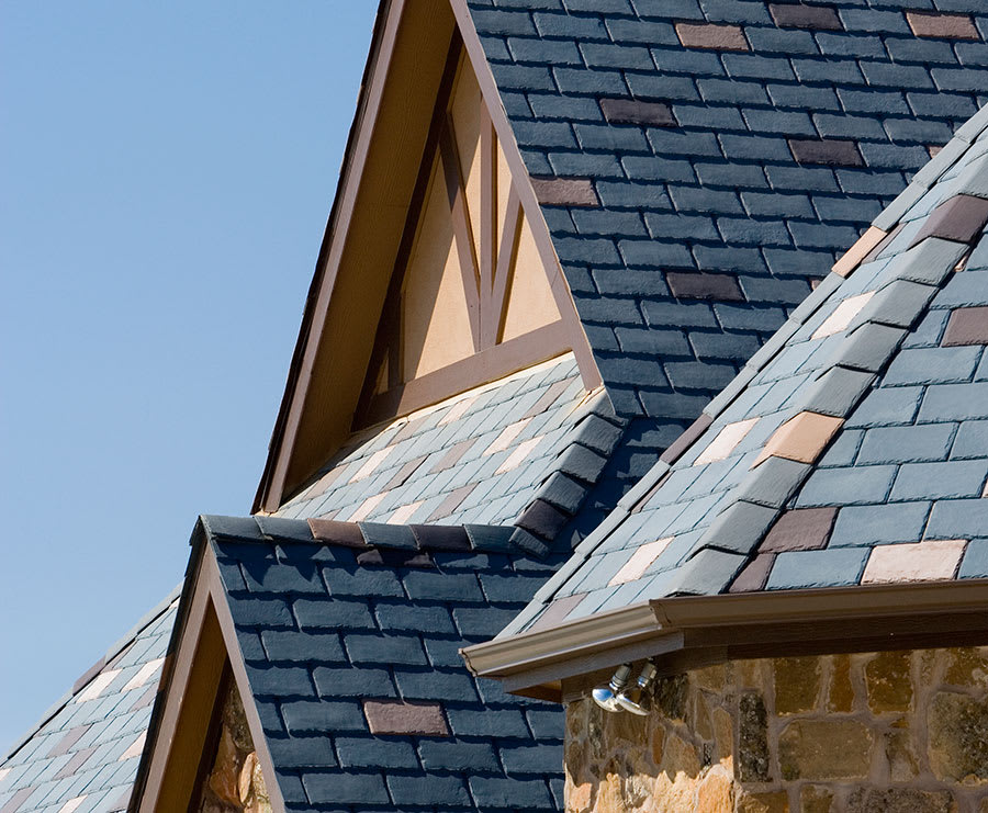 Ecostar Majestic Slate Tiles Eco Friendly Durable Recycled Rubber Roofing Tiles