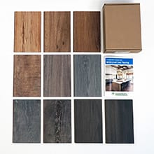 Sustainable Samples Box: Waterproof Cork - Wood Look - Dark <br>10-day Home Try On - Rental