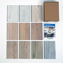 Sustainable Samples Box: Waterproof Cork - Wood Look - Light<br>10-day Home Try On - Rental
