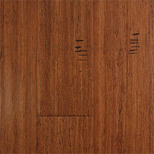 EcoFusion Solid Drop and Lock Strand Sustainable Bamboo Flooring, Sarsaparilla