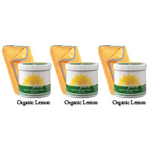 Green Building Supply, Blissfully Clean non-toxic cleaner, 3x500g, Lemon, 3xYellow Cloths