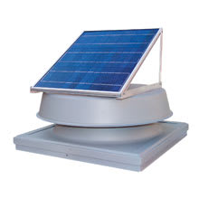 Natural Light Energy Systems, Solar Attic Fan, Curb Mounted