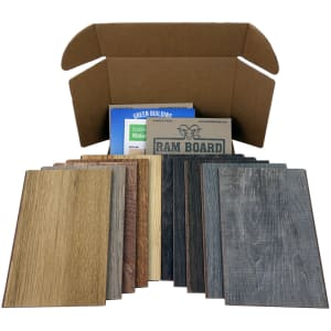 Sustainable Samples Box : Waterproof Cork - Wood Look Dark - 10-day Home Try On Kit