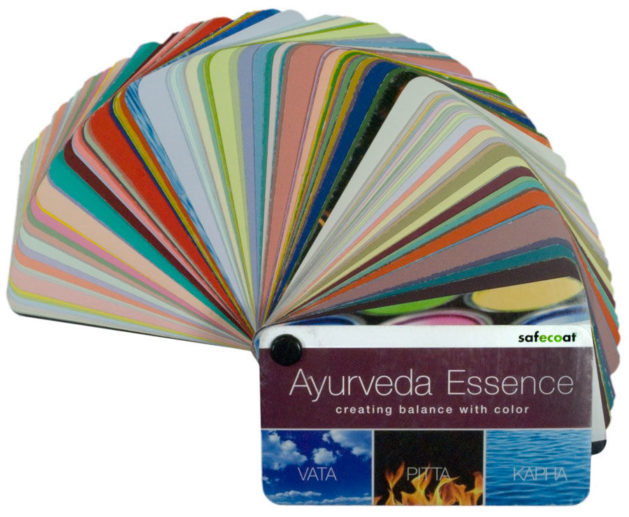 afm safecoat ayurveda color swatch bookpaint fan deck color palette for vata pitta kapha green building supply - Color Swatch Book