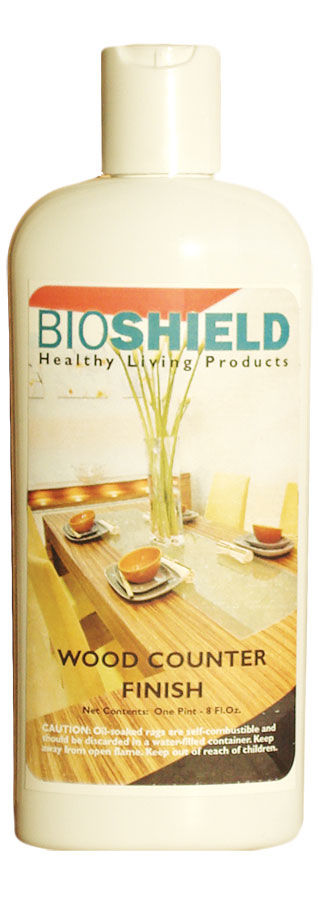 Bioshield, Wood Counter Finish - All-Natural, Non-Toxic, Oil Wax