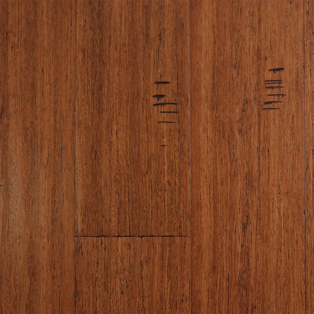 Ecofusion Solid Drop Amp Lock Bamboo Flooring Sarsaparilla