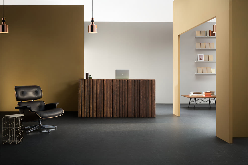 Forbo Marmoleum Slate - Natural Linoleum, Non-Toxic, Durable, 2.5mm ...