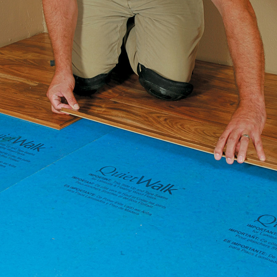 Mp Global Quietwalk Underlayment Recycled With Vapor Barrier Ideas Laminate Floor Padding Quiet Walk