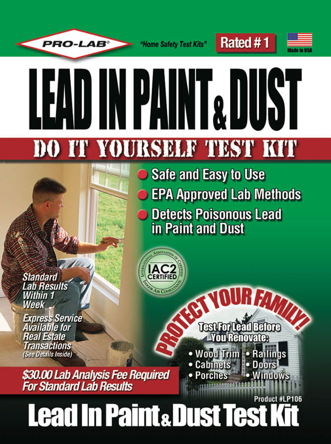 prolab lead in paint and dust test kit epaapproved test for lead green building supply