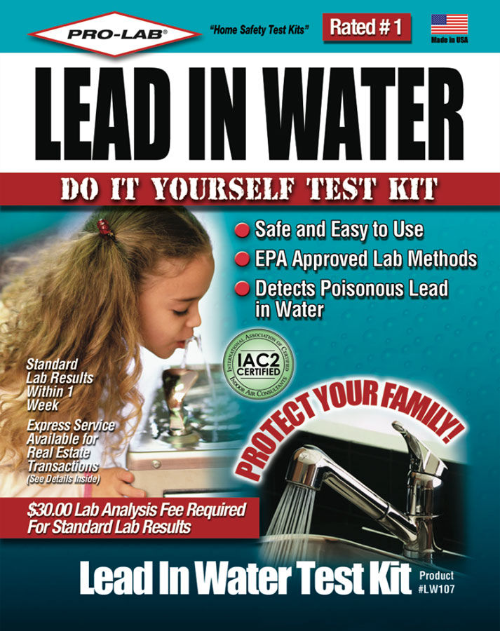 Pro Lab Lead In Water Test Kit Epa Approved Test For Lead