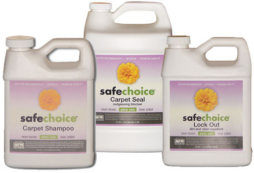 afm safechoice 3part carpet shampoo and sealing system