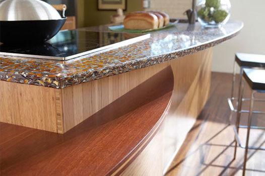 Perfect Vetrazzo Recycled Glass Countertop