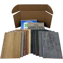 Sustainable Samples Box: Waterproof Cork - Wood Look by Amorim - Dark<br>10-day Home Try On - Rental