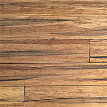 EcoFusion Wide Plank Solid Strand Sustainable Bamboo Flooring, Peppercorn