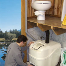 Sun-Mar, Composting Toilet, Central Flush System, Central Unit