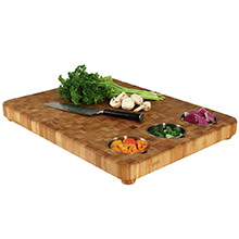 Totally Bamboo, 3 Bowl Large Prep Cutting Board, 22
