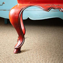 Pinstripe Wool Carpet by Unique Carpets, Antigua