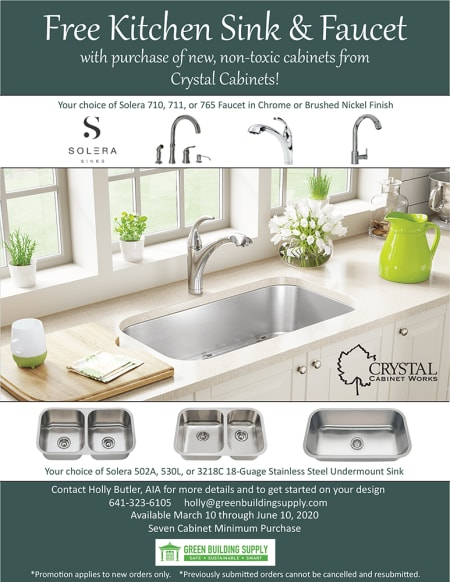 Free Kitchen Sink and Faucet Hardware with Cabinet Purchase Promotion, Now through June 10th