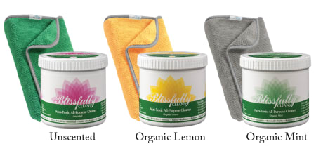 Blissfully Clean Kit 3 Unscented Lemon Mint with PerfectCLEAN Cloth