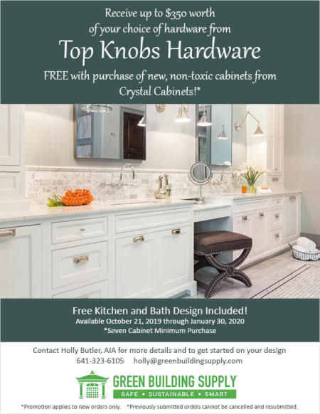 Free Hardware with Cabinet Purchase Promotion, Now through January 30th