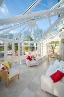 Bright glazed extension interior
