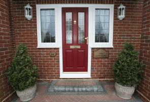 Red composite door.