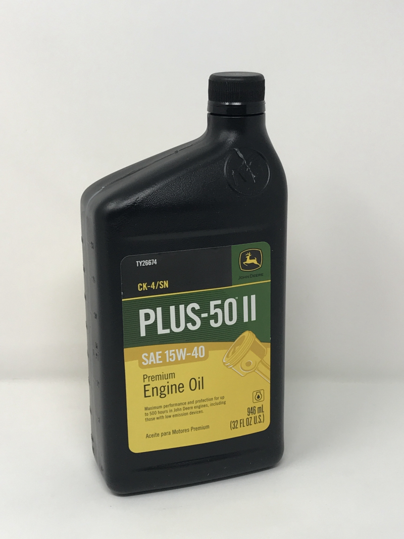 John Deere Plus-50 Quart of Oil 15W40 TY26674