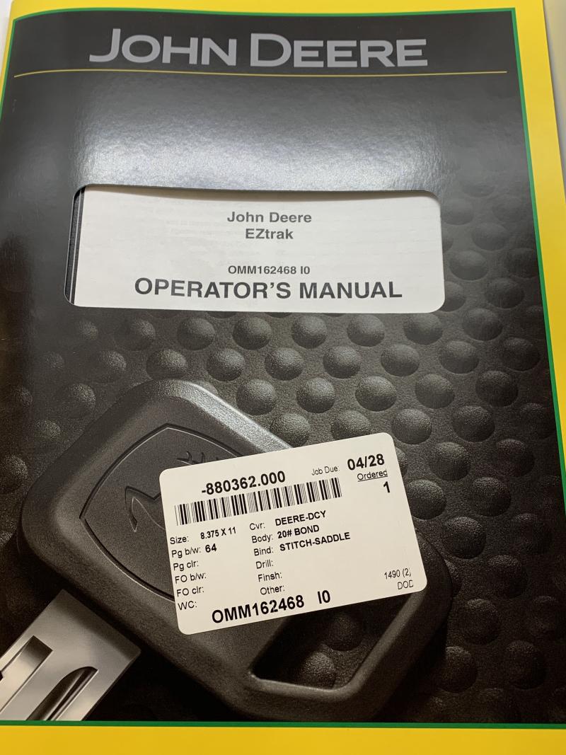 John Deere Operator'S Manual OMM162468