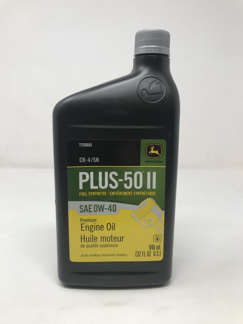 John Deere Plus-50 Ii Oil 0W40 Ck4/Sn TY26665