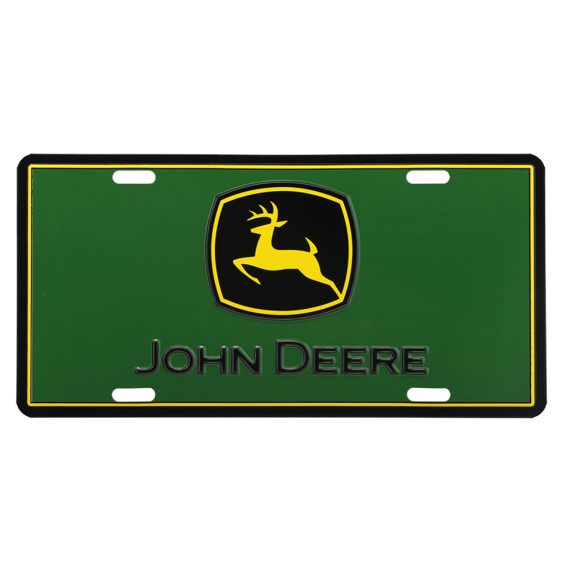 John Deere Embossed Vanity License Plate LP71676