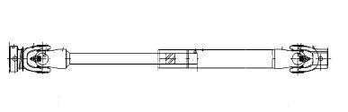 John Deere Universal Driveshaft LVB24800