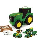 John Deere Fun on the Go Tractor Case 18 Piece Toy Set TBEK35747