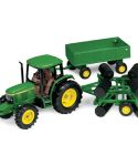 John Deere 1/32 Scale Tractor Wagon Disk Toy Set TBE15489