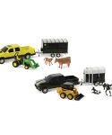 John Deere 1/32 Scale Pickup Truck Animal Hauling Toy Set TBEK37656