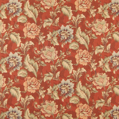 A4000 Sunset Fabric: B49, FLORAL, FLORALS, FOLIAGE, TAPESTRY, FLORAL TAPESTRY