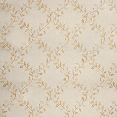 A4888 Eggshell Fabric: D50, B72, FLORAL, FLORAL FABRIC, JACQUARD, FOLIAGE, TONE ON TONE,LATTICE