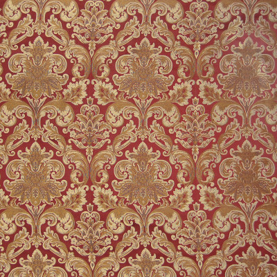 A4891 Brick Fabric: D50, B72, C32, GOLD, RED WOVEN FRAME,FOLIAGE