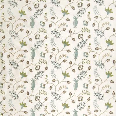 A6290 Crystal Fabric: B95, NEUTRAL, NATURAL, FLOWER, VINE, BLUE,FOLIAGE