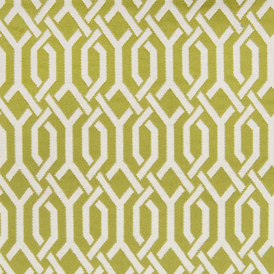 A6334 Lemongrass Fabric: C08, B96, GREEN, WHITE, GEOMETRIC