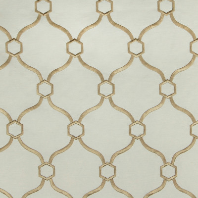 A6680 Sand Fabric: D10, C05, EMBROIDERED, SAND, NUETRAL, NATURAL, WHITE, GEOMETRIC