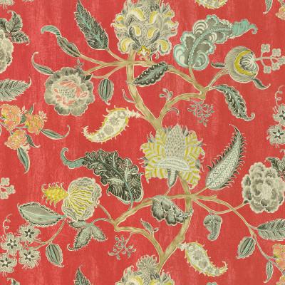 A7131 Radish Fabric: C41, SCROLL FABRIC, SCROLL FABRICS, FLORAL FABRIC, FLORAL FABRICS, PAISLEY FABRIC, PAISLEY, DRAPERY FABRIC, PRINT FABRIC, PRINT FABRICS, DRAPERY FABRICS, WAVERLY