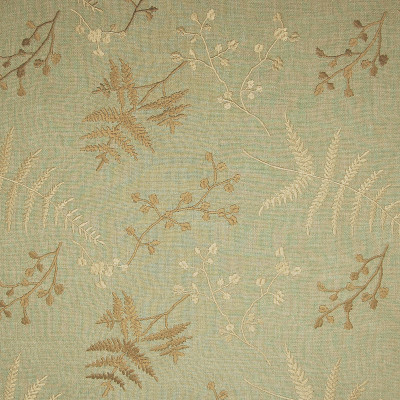A7319 Fern Fabric: C16, LINEN LOOK, GREEN LINEN LOOK, GREEN, GREEN FLORAL, FLORAL, EMBROIDERY, GREEN EMBROIDERY,FOLIAGE