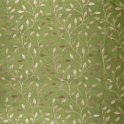A7914 Leaf Fabric: C27, VINE, LEAF, SILK LOOK, SAGE GREEN