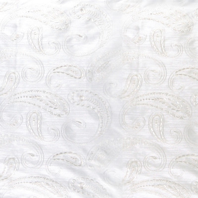 A7919 Ivory Fabric: D42, C27, RAW SILK LOOK, PAISLEY,WOVEN