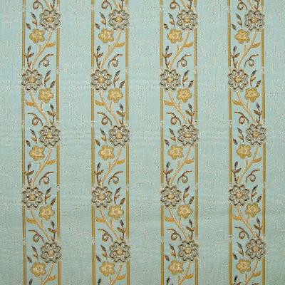 A8117 Robins Egg Fabric: D50, C32, LISEREEM, FLORAL STRIPE, AQUA, GOLD, STRIPE