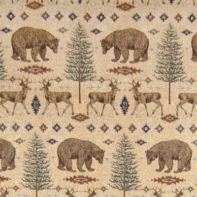 A8168 Sand Fabric: D13, C33, DEER, BEARS, PINE TREES, SOUTHWEST MOTIFS, LODGE, BEAR