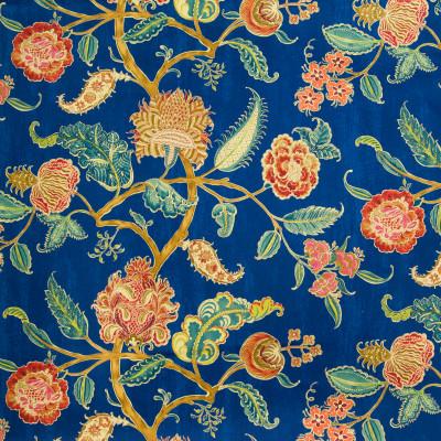 A8398 Midnight Blue Fabric: C41, SCROLL FABRIC, SCROLL FABRICS, FLORAL FABRIC, FLORAL FABRICS, PAISLEY FABRIC, PAISLEY, DRAPERY FABRIC, PRINT FABRIC, PRINT FABRICS, DRAPERY FABRICS, WAVERLY