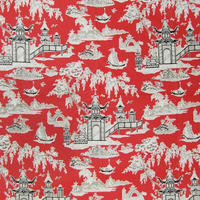 A8419 Lacquer Fabric: C41, TOILE FABRIC, TOILE FABRICS, PRINT FABRIC, PRINT FABRICS, DRAPERY FABRIC, DRAPERY FABRICS, CHINTZ, CHINTZ FINISH, CHINTZ FABRIC