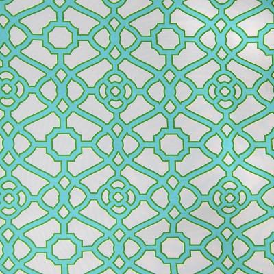 A8484 Emerald Fabric: C43, GEOMETRIC, IRON GATE