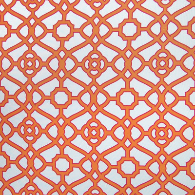 A8506 Kumquat Fabric: C43, ORANGE, CORAL, GEOMETRIC, IRON GATE, LARGE SCALE GEOMETRIC